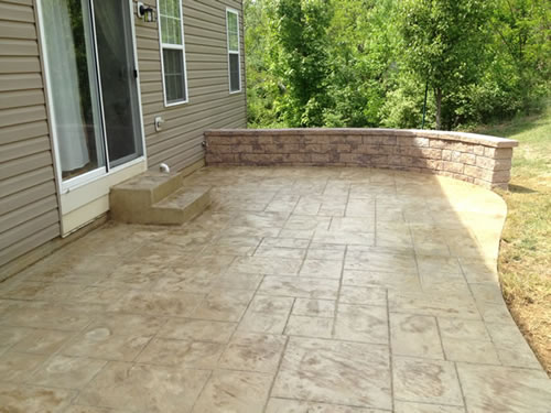 Stamped Concrete Patios Cole Concrete Maryland - Poured concrete patio